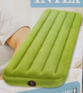68950FR Надувной матрас Classic Downy Bed ЗЕЛЕНЫЙ, 76х191х22см