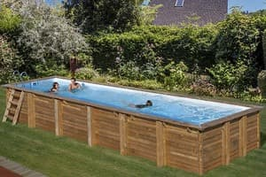 Прямоугольный деревянный бассейн 900x300х146 см ANISE GRE 788031