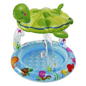 Бассейн Черепаха с навесом Intex арт.57119 102х107см на 1-3 года