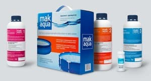 MAK Aqua комплект препаратов с хлором для дезинфекции