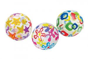 Мяч надувной Lively 3 вида Intex арт.59050 61см, от 3-х лет