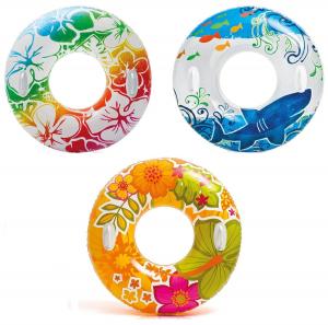 Надувной круг Transparent Intex арт.58263 97см, 3 цвета от 9 лет