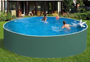 Сборный бассейн ЛАГУНА 48818 круглый 488х125 см (зеленый)